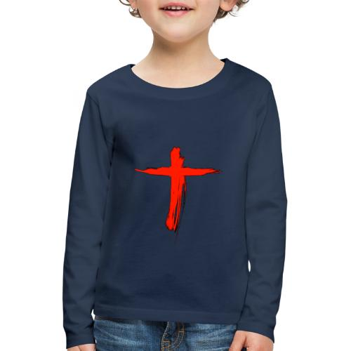 the cross - Camiseta de manga larga premium niño