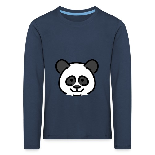 panda head / cabeza de panda - Camiseta de manga larga premium niño