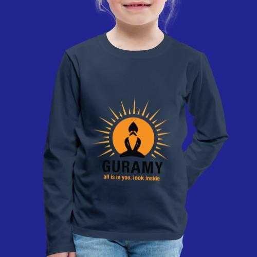 final nero con scritta - Kids' Premium Longsleeve Shirt