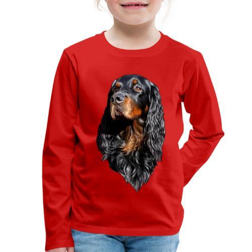 Gordon Setter Portrait - Lasten premium pitkähihainen t-paita