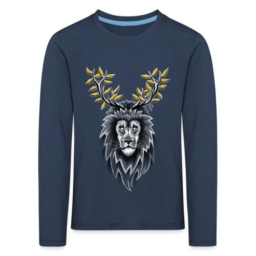 Deer Lion - Kids' Premium Longsleeve Shirt