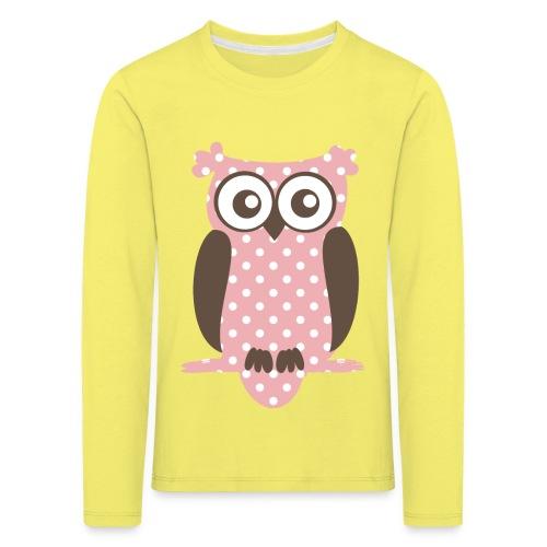 Eule - Kinder Premium Langarmshirt