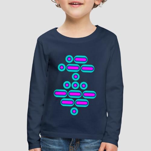 AWESOME (pink/blue) - Kids' Premium Longsleeve Shirt