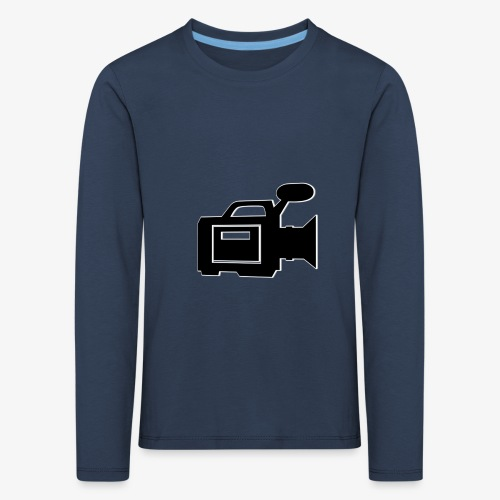 camera - Børne premium T-shirt med lange ærmer