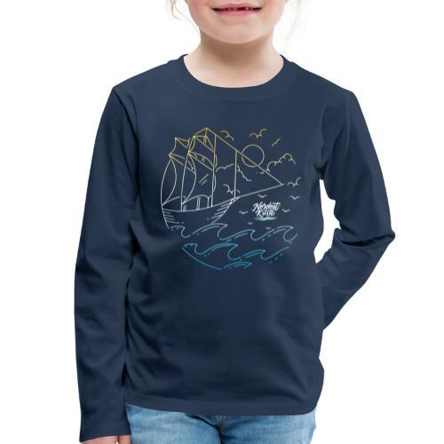 Schiff mit Sonne und Meer - Kinder Premium Langarmshirt