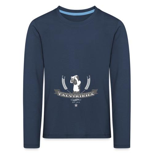 Talvirieha - Lasten premium pitkähihainen t-paita