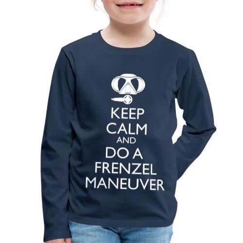 Keep calm and Frenzel - Kinder Premium Langarmshirt