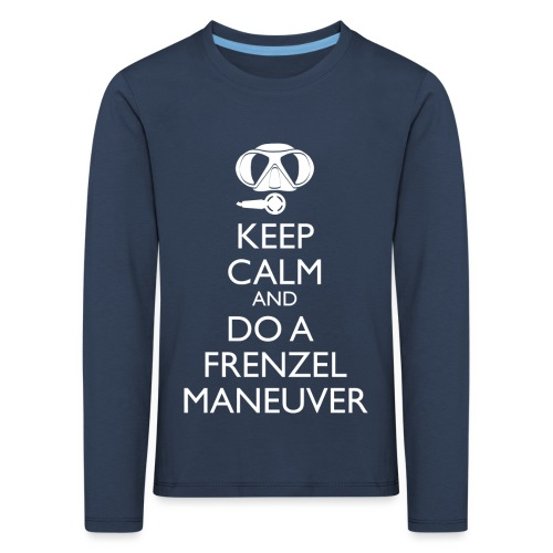 Keep calm and Frenzel - Kinder Premium Langarmshirt