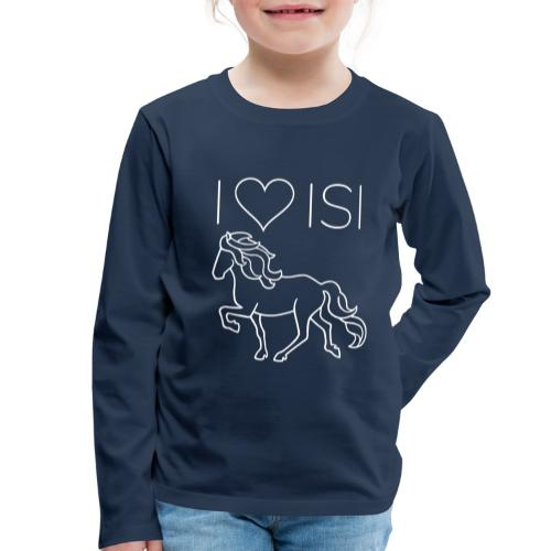 I love Isi, weiß - Kinder Premium Langarmshirt