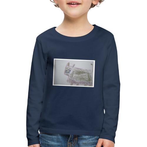 Kissa - Lasten premium pitkähihainen t-paita