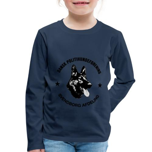 Svendborg ph sort - Børne premium T-shirt med lange ærmer