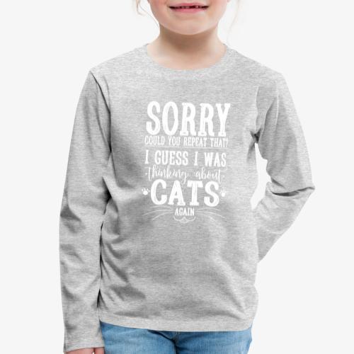 Sorry Cats II - Lasten premium pitkähihainen t-paita
