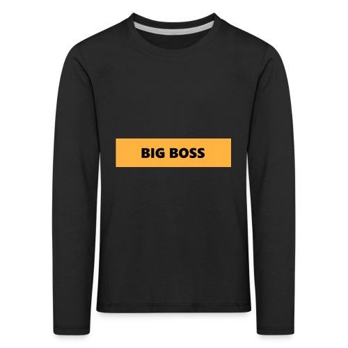 BIG BOSS - Lasten premium pitkähihainen t-paita