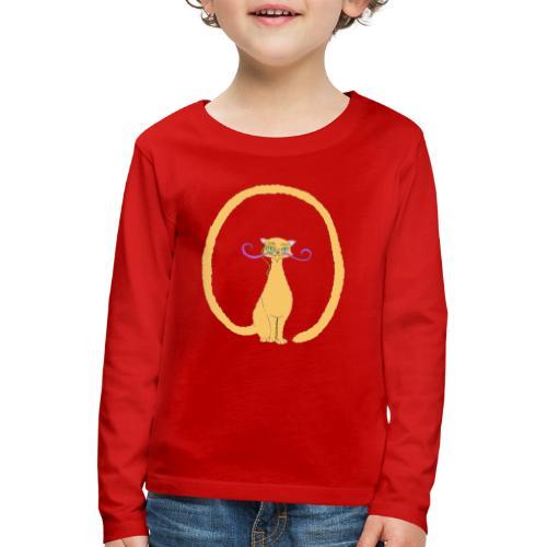 Salvador, le Chat avec une longue queue - T-shirt manches longues Premium Enfant