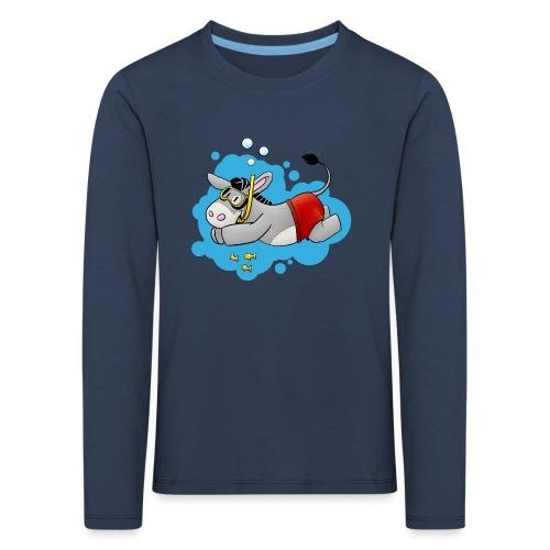 Esel - Kuschelesel geht schwimmen - Kinder Premium Langarmshirt