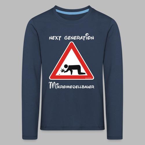 Warnschild Mikromodellbauer Next Generation - Kinder Premium Langarmshirt
