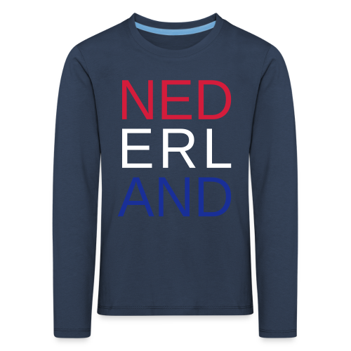 Nederland in de kleuren van de vlag - Kinderen Premium shirt met lange mouwen