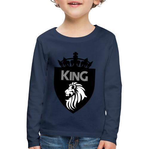 king - T-shirt manches longues Premium Enfant