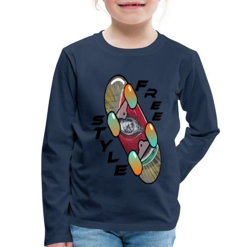 Skateboard Freestyle 2 - Kinder Premium Langarmshirt