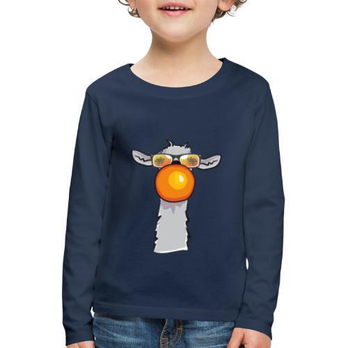 Chewing Llama - Kinder Premium Langarmshirt