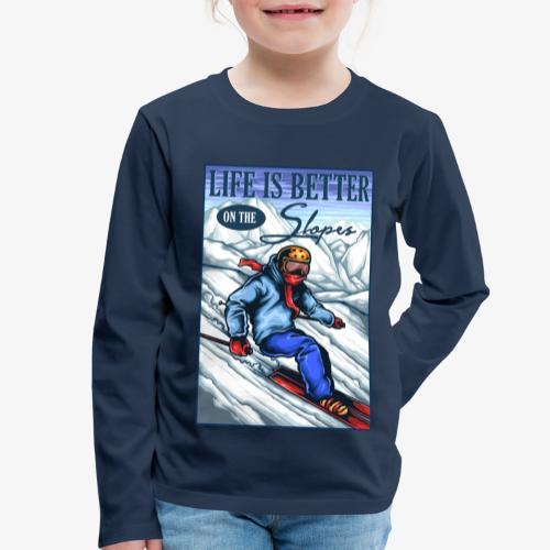 Ski Life - T-shirt manches longues Premium Enfant