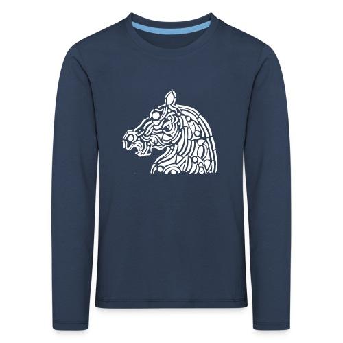 horse - cheval blanc - T-shirt manches longues Premium Enfant