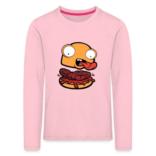 Crazy Burger - Camiseta de manga larga premium niño