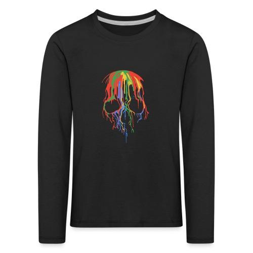 Skull and Colours - Camiseta de manga larga premium niño