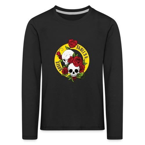SKULL'S N ROSES - Camiseta de manga larga premium niño