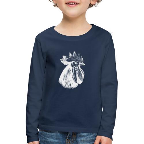 Hahn Kopf weiss - Kinder Premium Langarmshirt