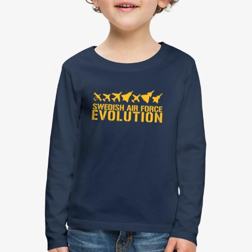 Swedish Air Force Evolution - Långärmad premium-T-shirt barn