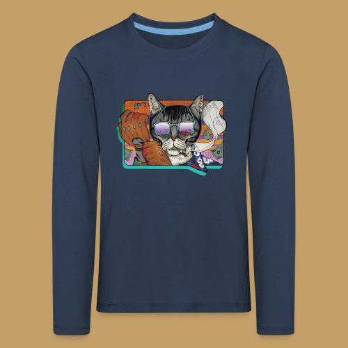 Crime Cat in Shades - Koszulka dziecięca Premium z długim rękawem