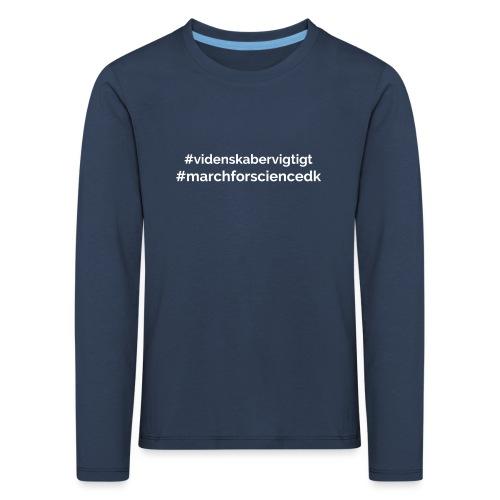 March for Science Danmark - Kids' Premium Longsleeve Shirt