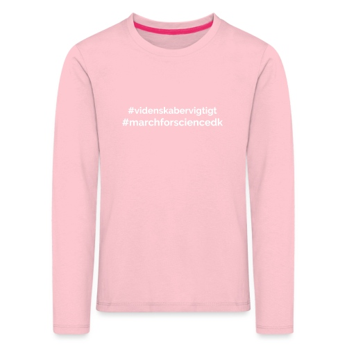 March for Science Danmark - Kids' Premium Longsleeve Shirt