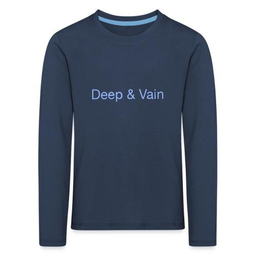 Deep&Vain Text Logo - Kinderen Premium shirt met lange mouwen