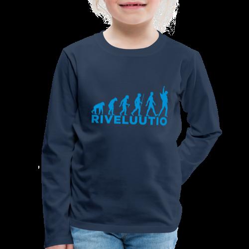 Riveluutio - Lasten premium pitkähihainen t-paita