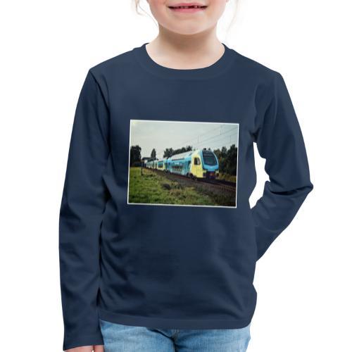 Regionale trein in Duitsland - Kinderen Premium shirt met lange mouwen