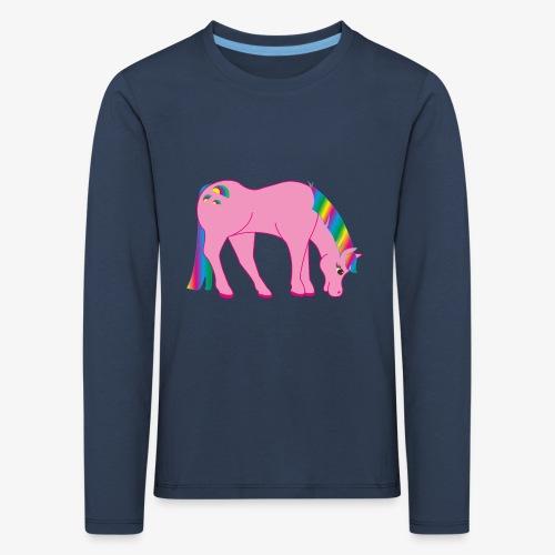 Regenbogen Pferd - Kinder Premium Langarmshirt