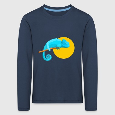 Geometric Chameleon - Kids' Premium Longsleeve Shirt