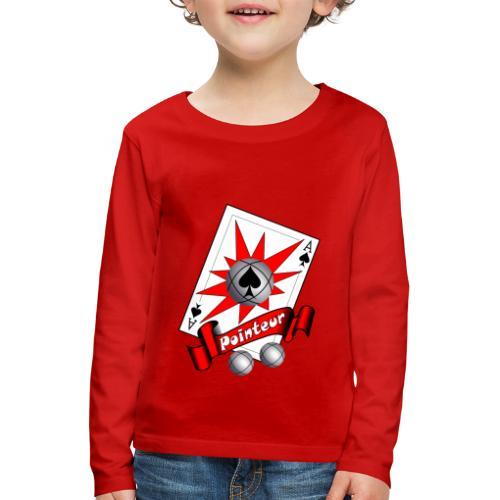 t shirt petanque as des pointeurs boules - T-shirt manches longues Premium Enfant
