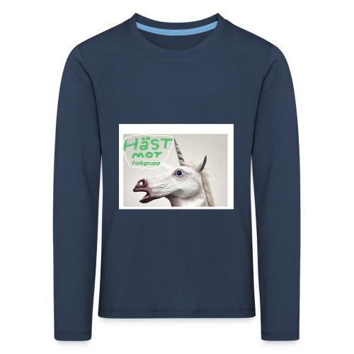 haest mot folkgrupp - Långärmad premium-T-shirt barn