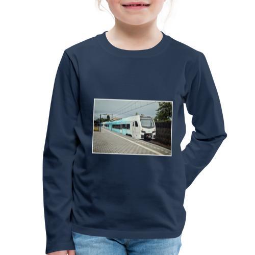 Regionale trein in Bilthoven - Kinderen Premium shirt met lange mouwen