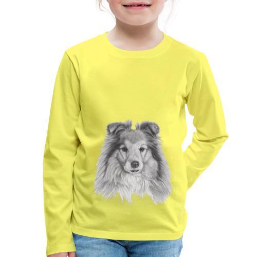 shetland sheepdog sheltie - Børne premium T-shirt med lange ærmer
