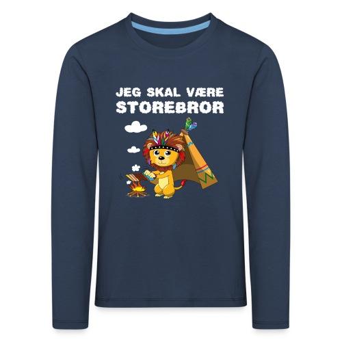 Jeg skal være storebror løve gave fødsel brødre - Børne premium T-shirt med lange ærmer
