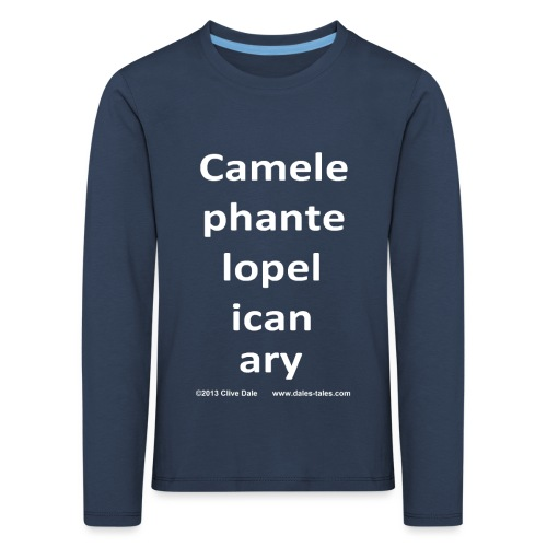 camelepha 5lines white - Kids' Premium Longsleeve Shirt