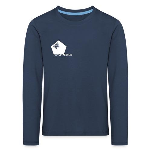 logowhite - Kinder Premium Langarmshirt