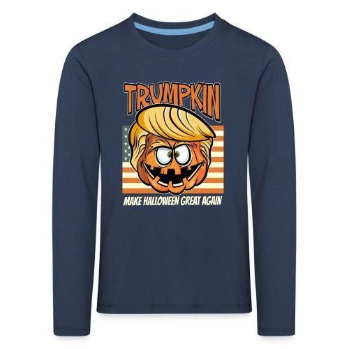 Trumpkin Donald Trump Halloween - Kinder Premium Langarmshirt