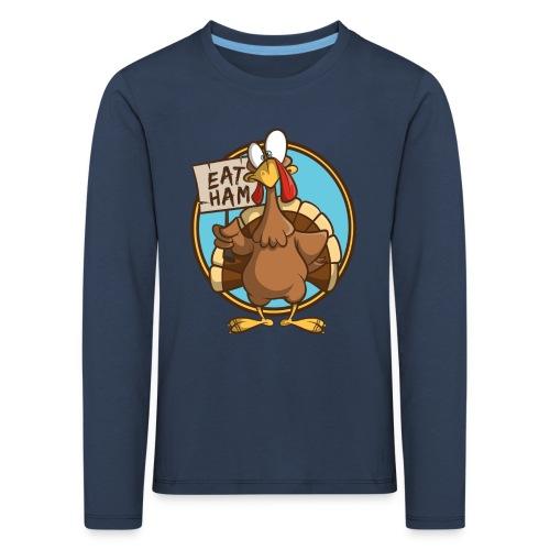 Truthahn Pute Weihnachten Thanksgiving - Kinder Premium Langarmshirt