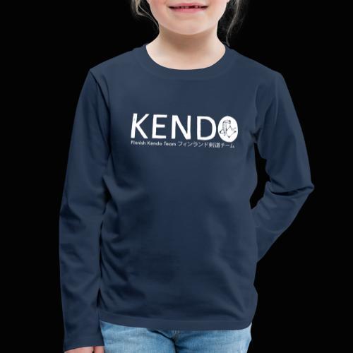 Finnish Kendo Team Text - Lasten premium pitkähihainen t-paita