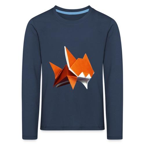 Jumping Cat Origami - Cat - Gato - Katze - Gatto - Kids' Premium Longsleeve Shirt
